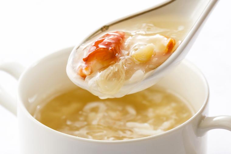 ふかひれと蟹肉のスープ