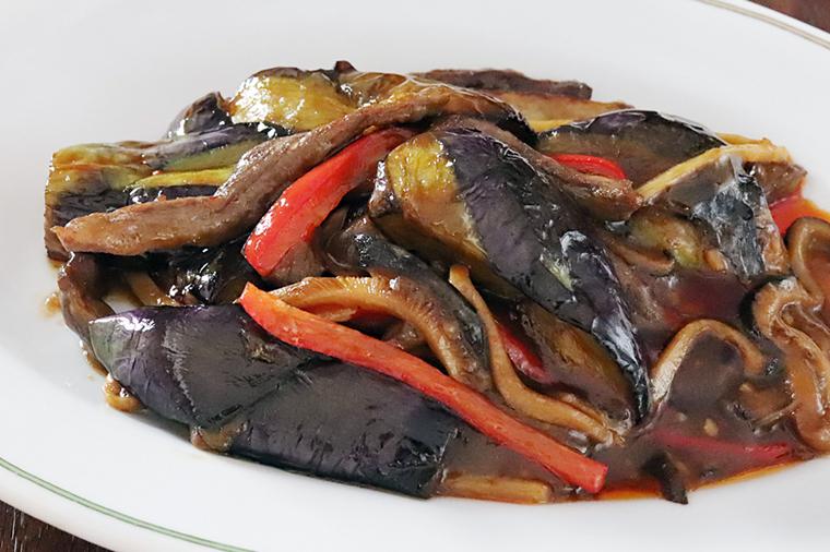 茄子の辛味醤油煮込み