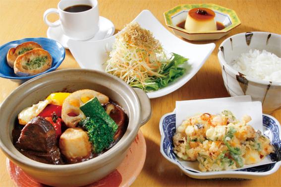 【1日10食限定】牛ほほ肉の和風シチュー定食