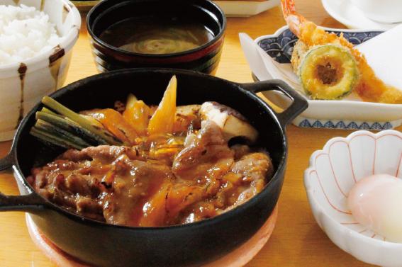 【ディナータイム限定】十勝ハーブ牛 すき煮定食
