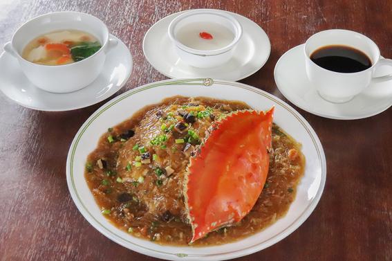 美麗華風 渡り蟹のあんかけ炒飯セット