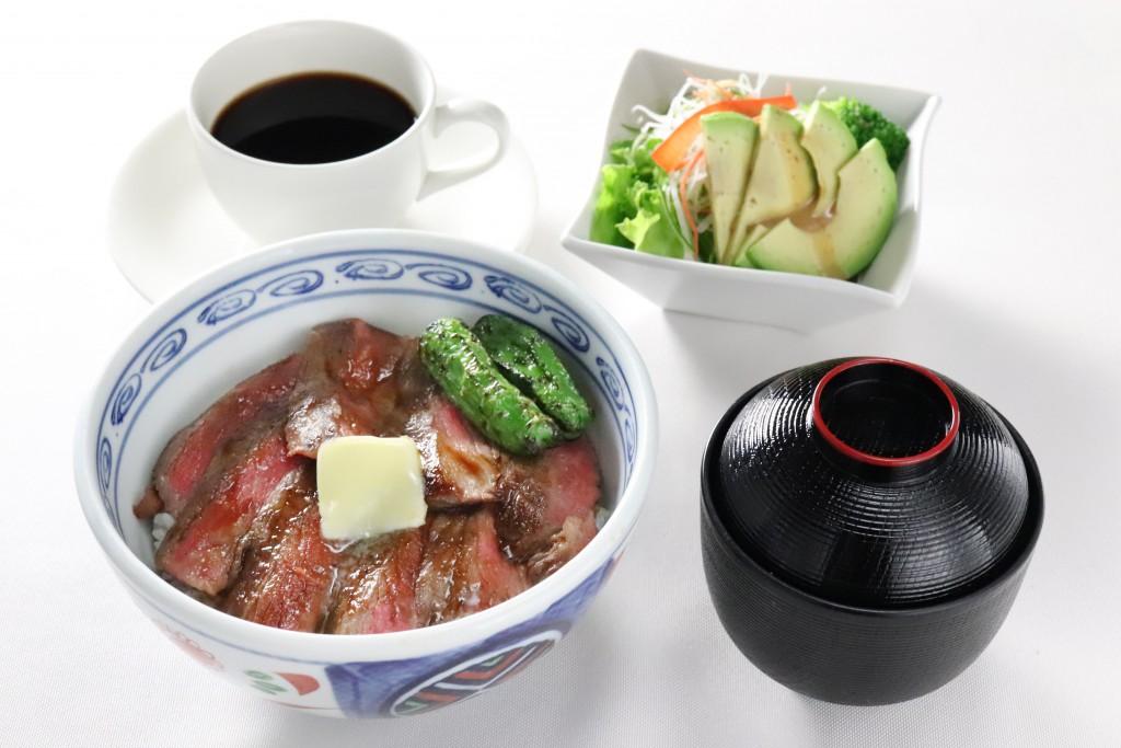 ビフテキ丼定食