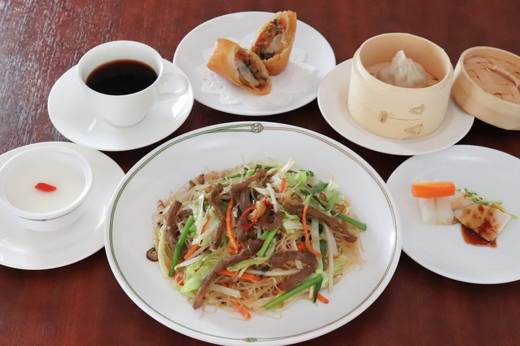 ビーフンランチセット 台湾風 牛肉炒米粉(十勝和牛入り炒めビーフン)